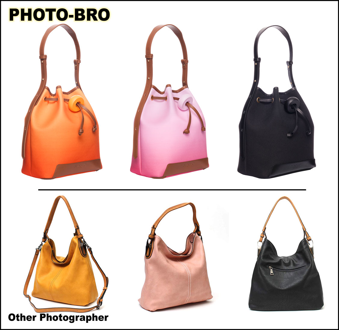 Bucket Bag Product Photography by Photo Bro